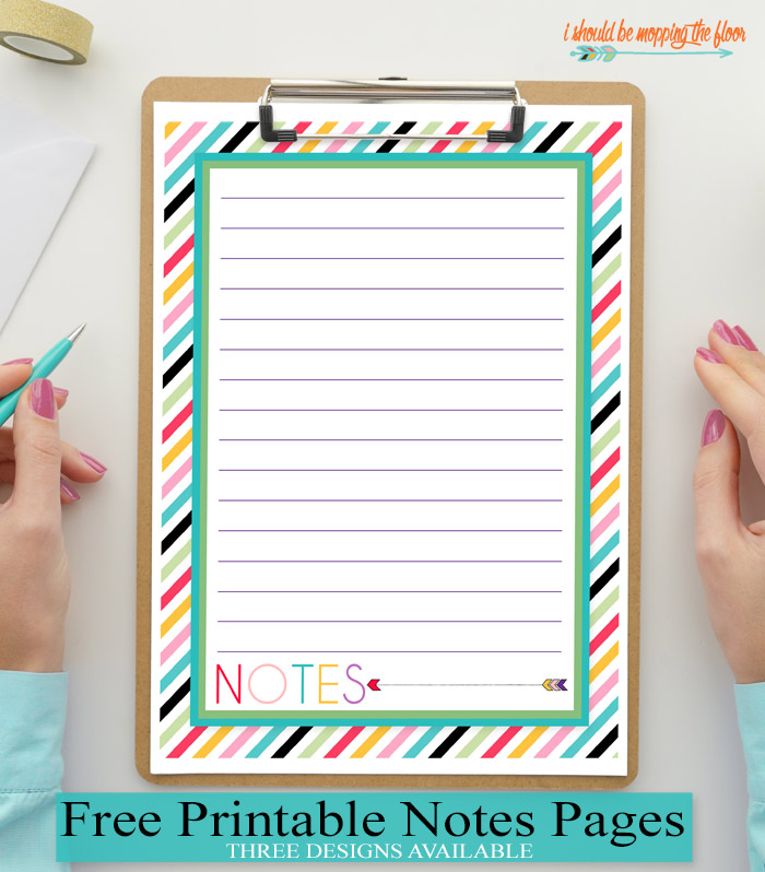 picture regarding Printable Notes Page known as No cost Printable Notes Web page i ought to be mopping the area