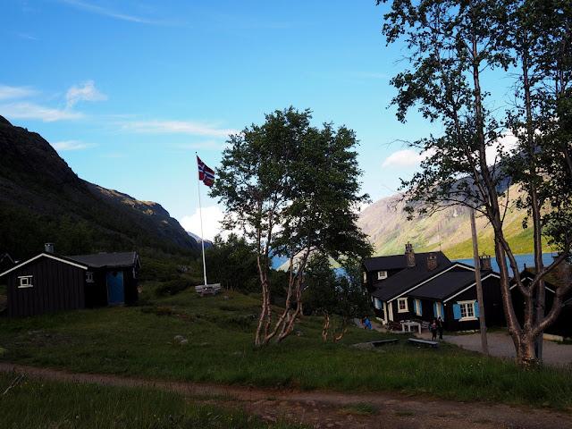 Gjendebu, Gjende, Norsko, Jotunheimen, trek, příroda