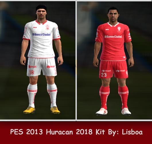 PES 2013 Huracan 2018 Kits by Lisboa