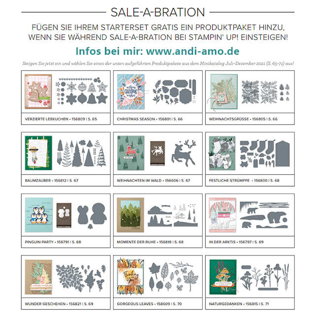 Stampin Up Einsteiger-Angebot Sale-A-Bration 2021