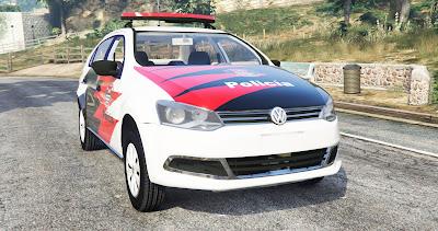 Volkswagen Voyage Policia Civil SP para GTA 5 - Frente