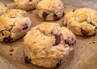 Chocolate and Orange scones