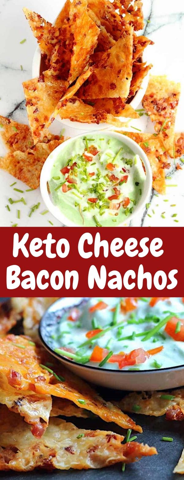 Keto Cheese Bacon Nachos