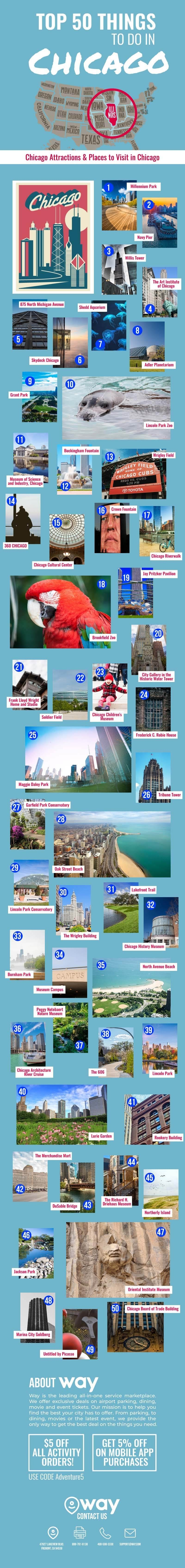 Top 50 Things to Do in Chicago #infographic