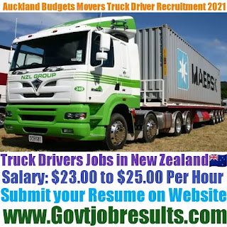 Auckland Budgets Movers Truck Driver Recruitment 2021-22