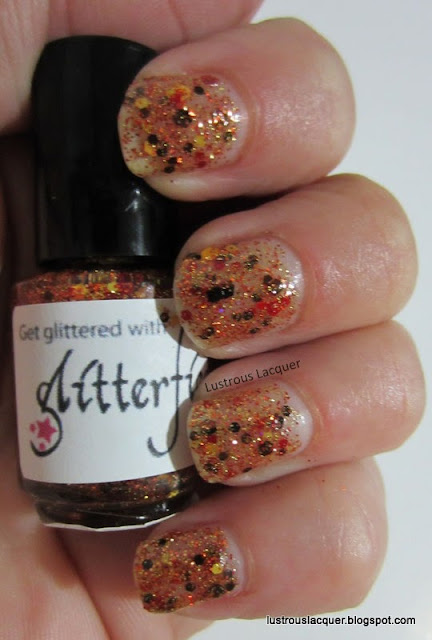 Glitterfied Nails Ablaze