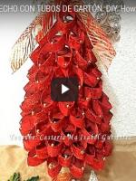 http://manualidadesreciclajes.blogspot.com.es/2016/11/arbol-de-navidad-con-rollos-de-carton.html