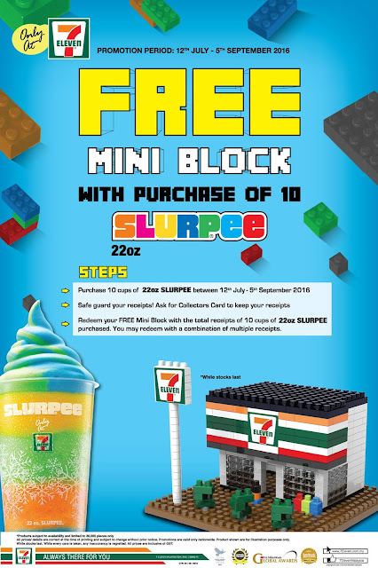 7 Eleven Malaysia Slurpee Free Mini Block Promotion