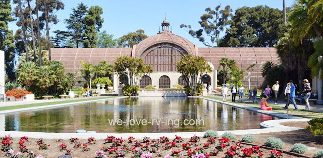 The Lily Pond is one of two in front of the Botanical Building