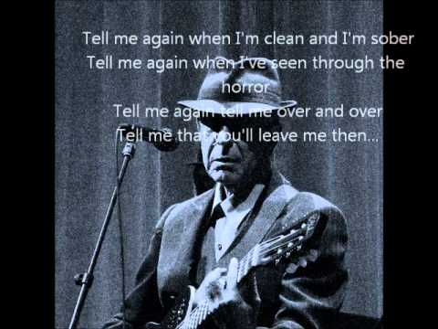 Leonard Cohen - Darkness - with Lyrics