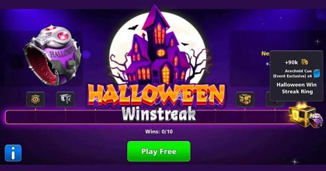 Rewards Halloween Win Streak 8 ball pool