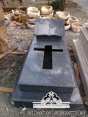 Gambar Makam Kristen Modern, Makam Granit Kristen, Kijing Makam Granit