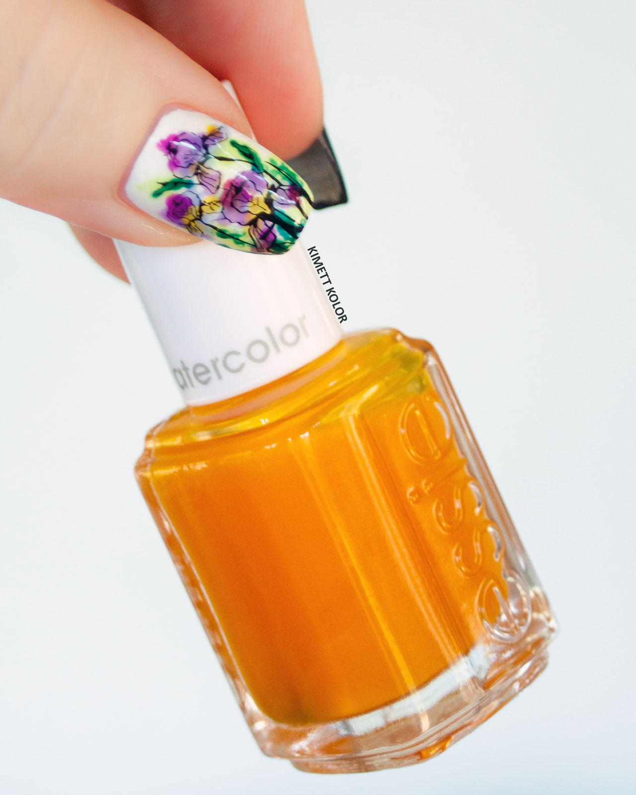 Kimett Kolor Essie Muse, Myself Yellow Jelly nail polish