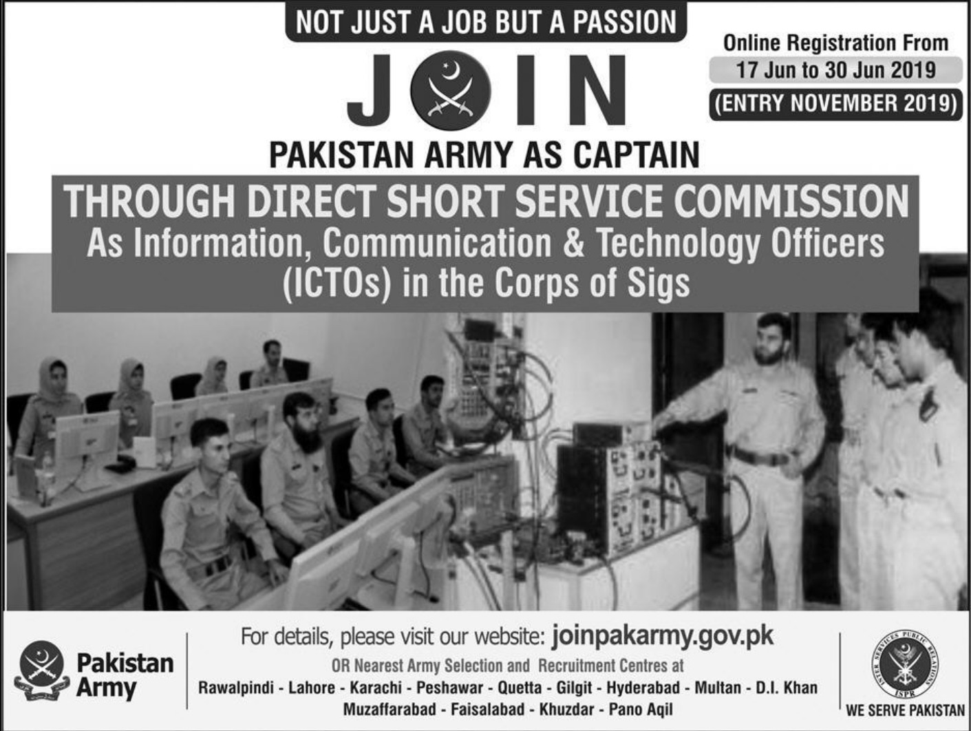 Join Pakistan Army as Captain through Direct Short Service Commission June 2019