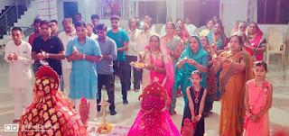 देवी शक्तियों को जागृत करके देवियों की झांसी का आयोजन ब्रह्माकुमारी संस्था द्वारा किया गया