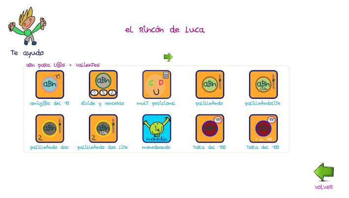 Matemáticas digitales ABN: El rincón de Luca - Aula de Elena