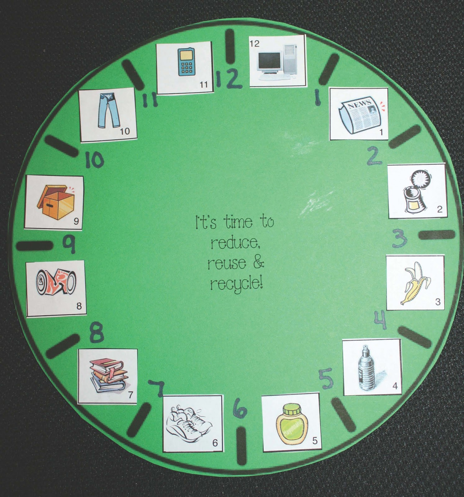 Earth Day It S Time To Recycle Clock Game