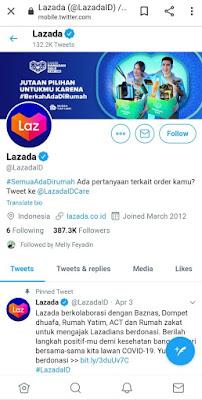 Twitter Lazada Indonesia (@LazadaID)