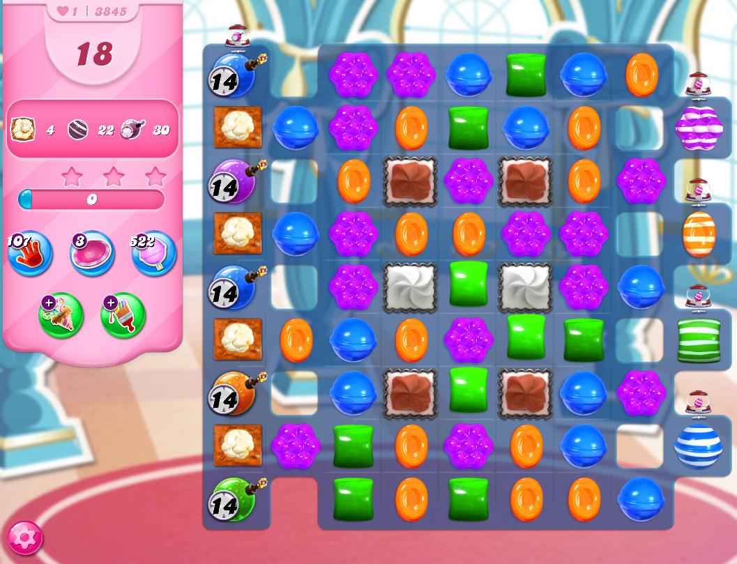 Candy Crush Saga level 3845