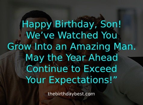 Heartfelt birthday wishes for son
