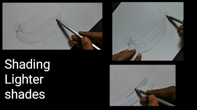 How to draw banana, easy step by step tutorial, learn to draw banana, fruits and vegetables drawing, begginers drawing of bananas