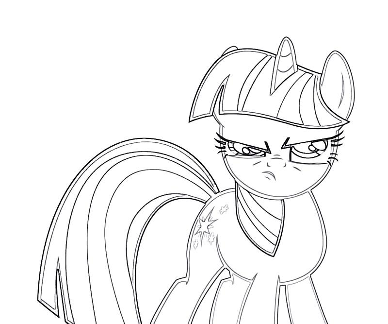 Twilight Sparkle coloring pages. Download and print ... |Twilight Sparkle Face Coloring Page