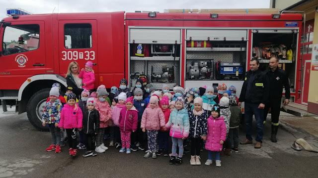 Wizyta przedszkolaków w Straży Pożarnej w Łagowie