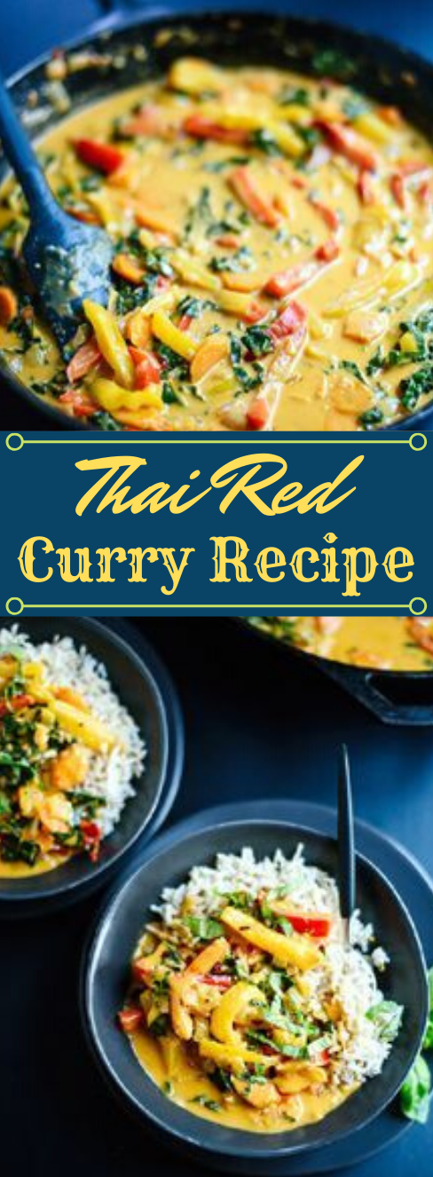 Thai Red Curry with Vegetables #vegetables #easy #food #breakfast #shrimp