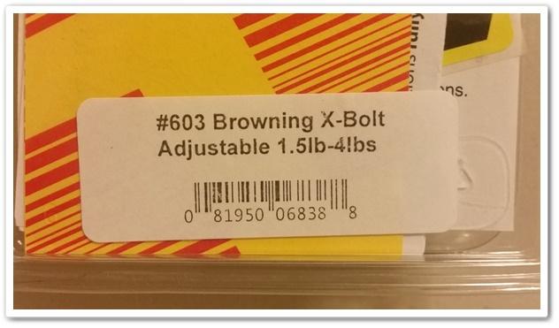 Timney #603 Trigger for Browning X-Bolt Adjustable Trigger