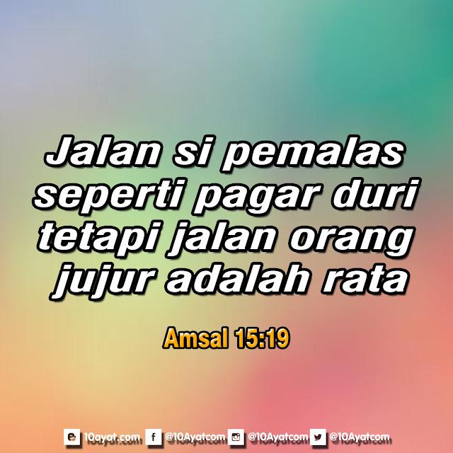 Amsal 15:19