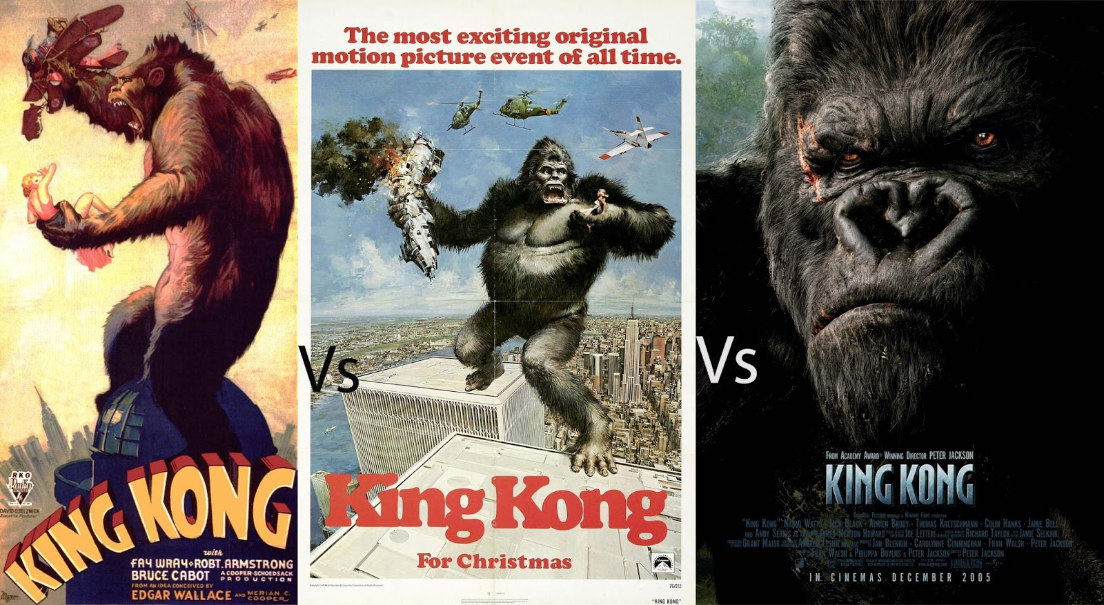 king kong 1933 vs 1976 vs 2005 conclusion