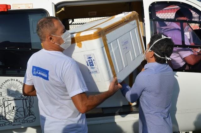 Alagoinhas recebe mais 2.080 doses da vacina Coronavac