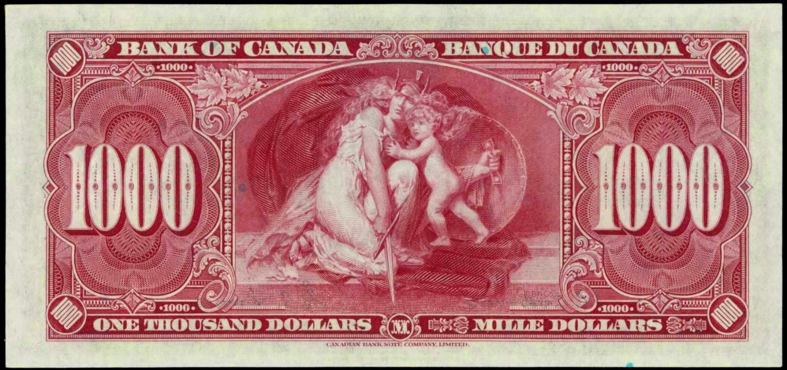 Canada 1000 dollars 1937