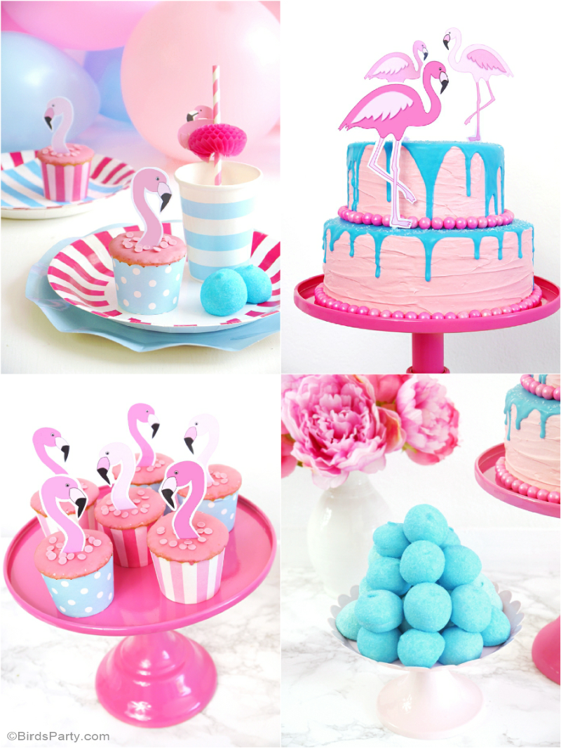 Flamingo Pool Party Ideas & Birthday Printables - BirdsParty.com