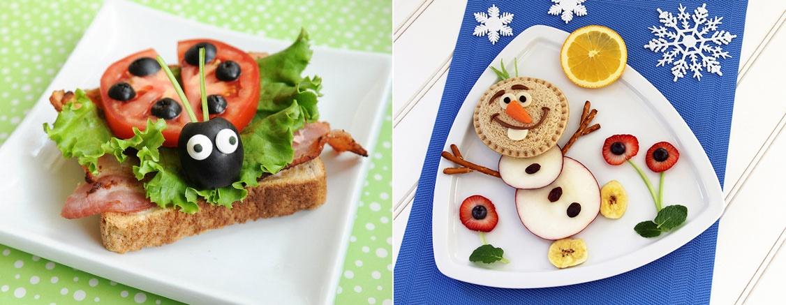 Muito 10 lanches criativos para crianças com frutas e legumes - Amando  OL02