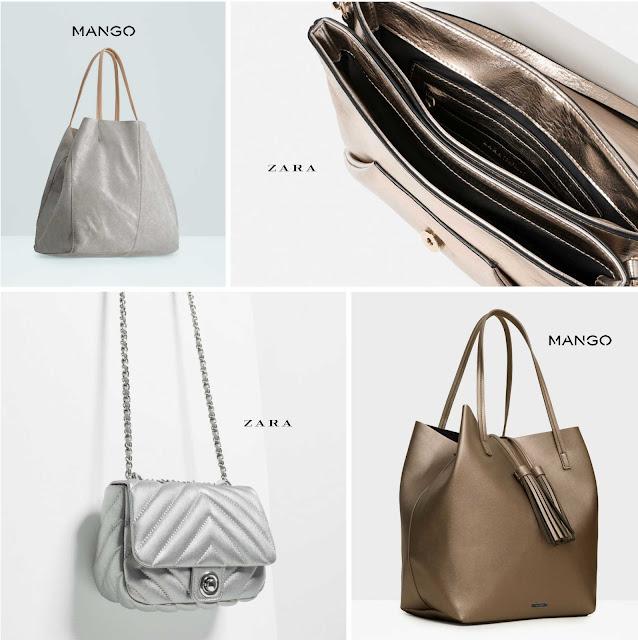 bolsos metalizados
