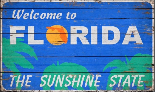 Florida Welcome Sign Wood