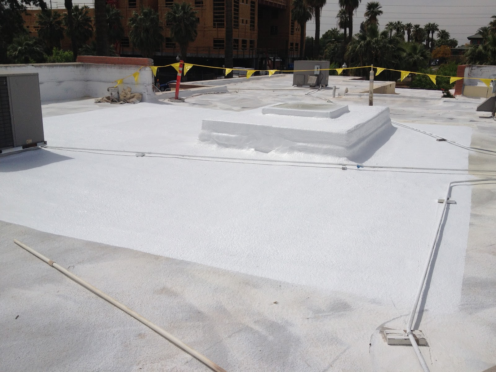 Spray Foam And Roof Coating Repairs In Downtown Phoenix