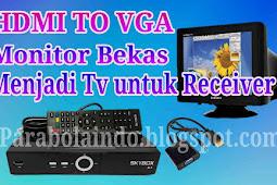 Menjadikan monitor komputer sebagai TV untuk receiver parabola