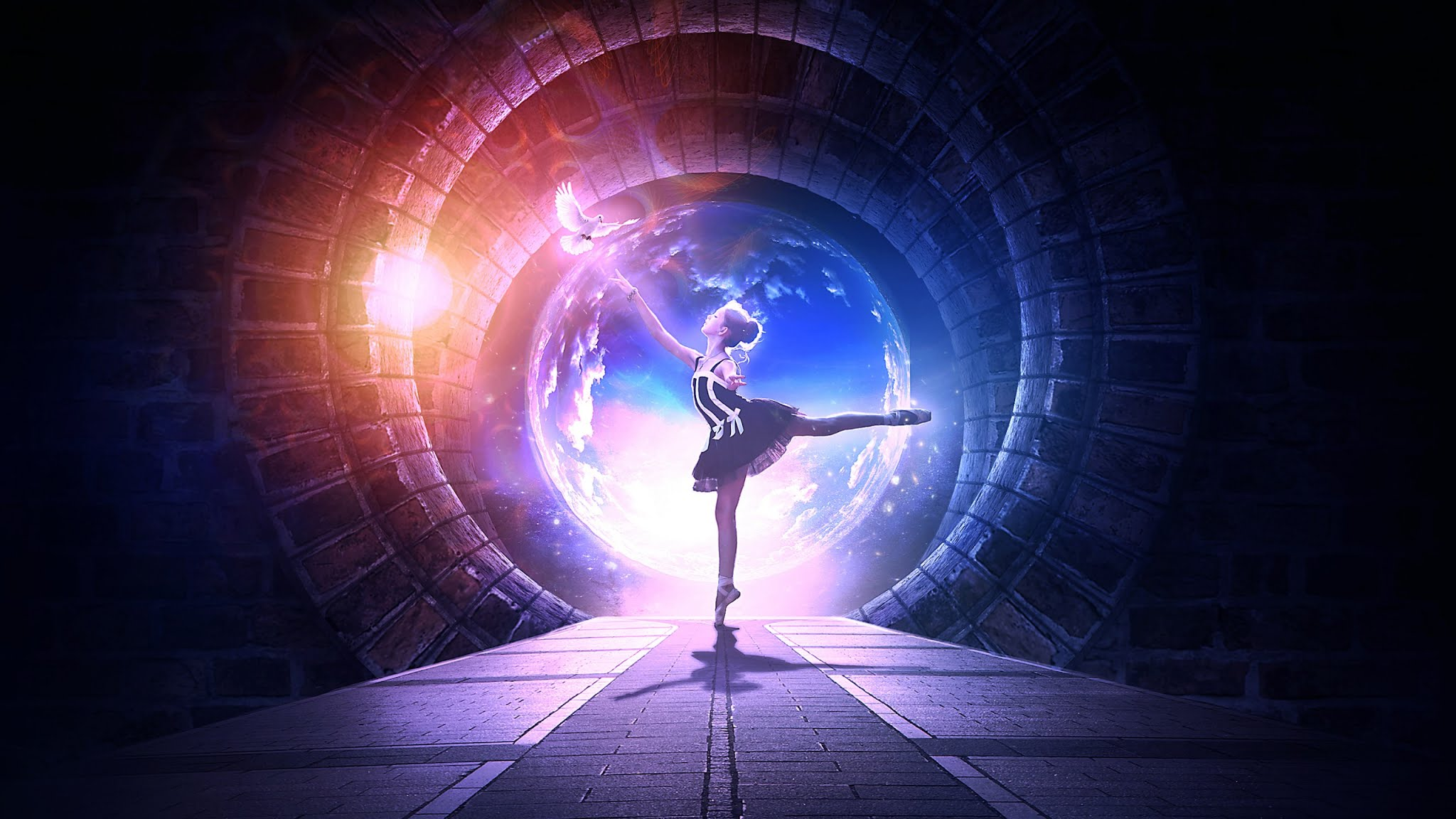 Beautiful Ballet Ddancer 3d Wallpaper