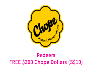 Get $10 OFF Chope Coupon