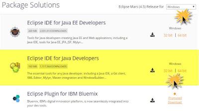 choose eclipse ide for java developers