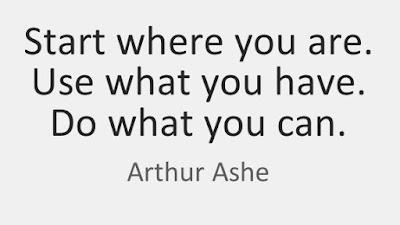 Начни там, где ты есть, используй то, что у тебя есть, делай то, что ты умеешь. Артур Эш