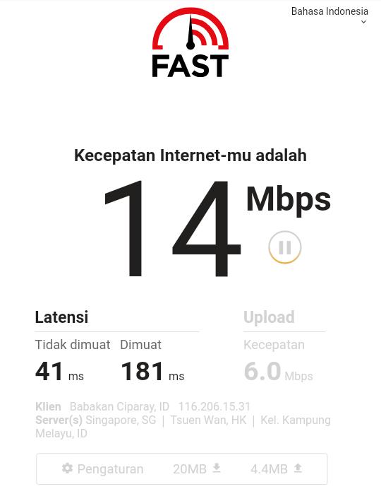 Daftar situs pengetesan kecepatan koneksi internet