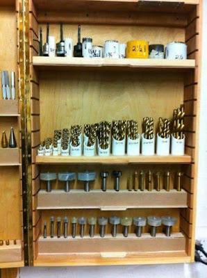 Organizador para brocas feito de cano de pvc