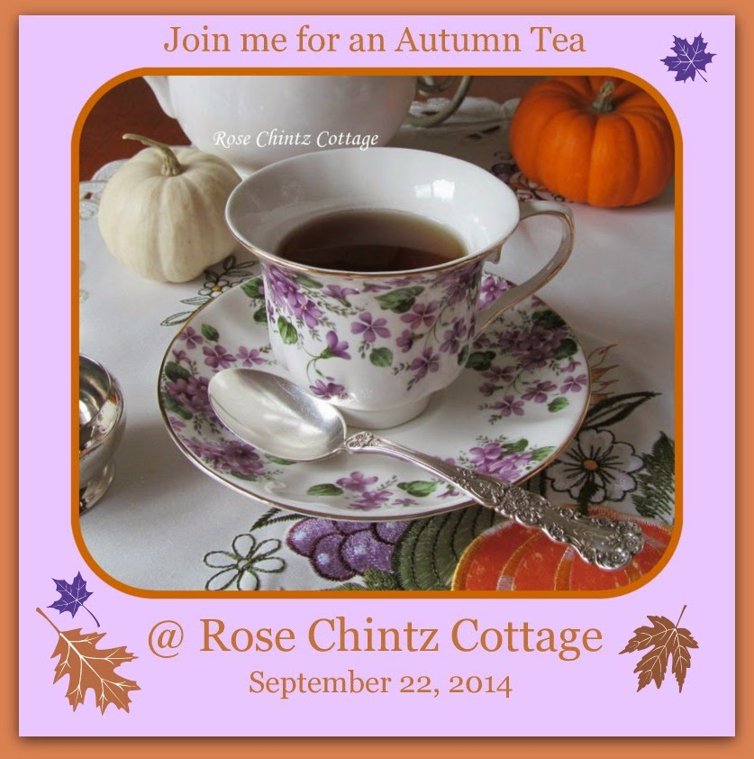 Please join me for an Autumn Tea