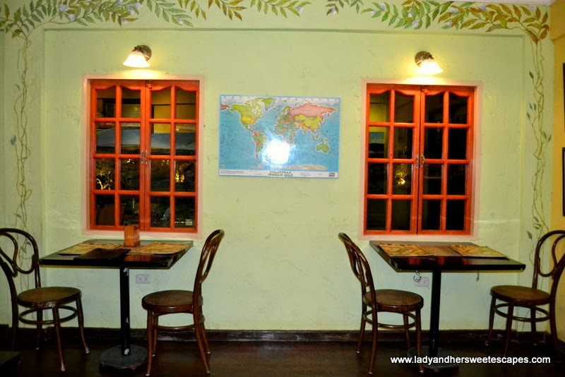 a quaint Italian restaurant at The Ruins in Talisay