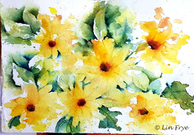Sunflowers - Splash and Splatter - Lin Frye