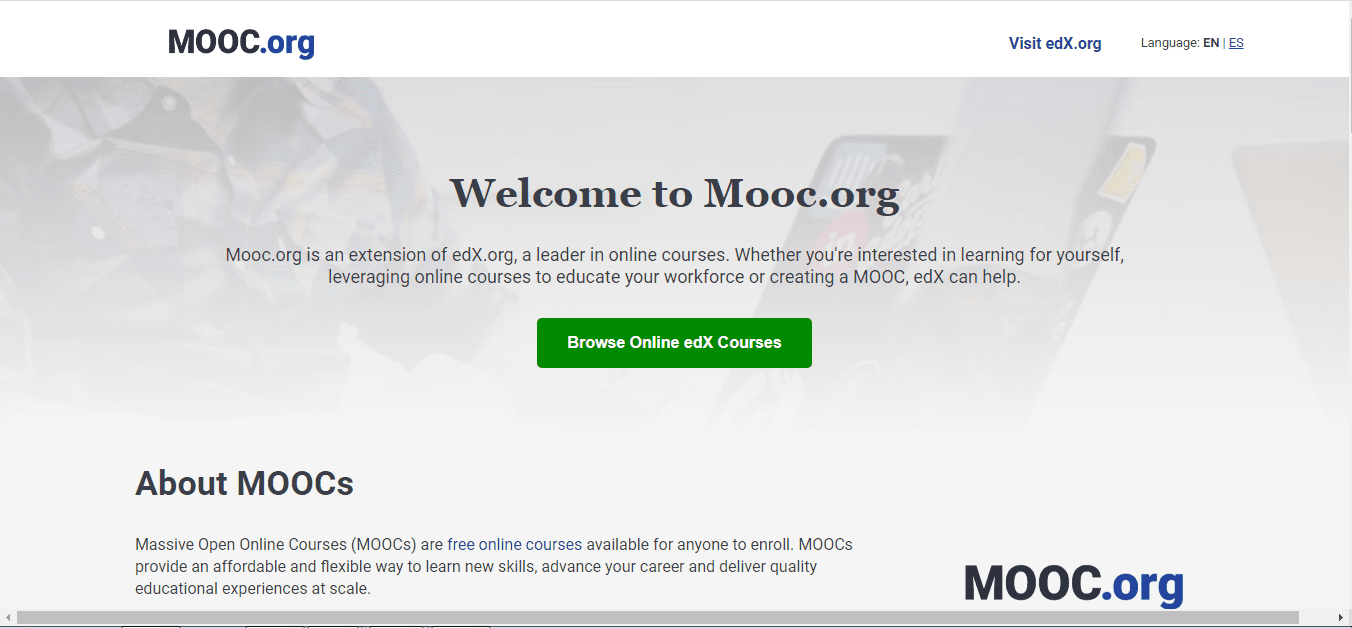 Mooc - free computer courses with Certificates