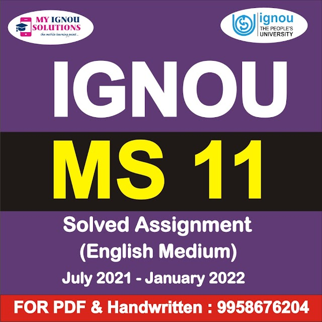 MS 011 Solved Assignment 2021-22